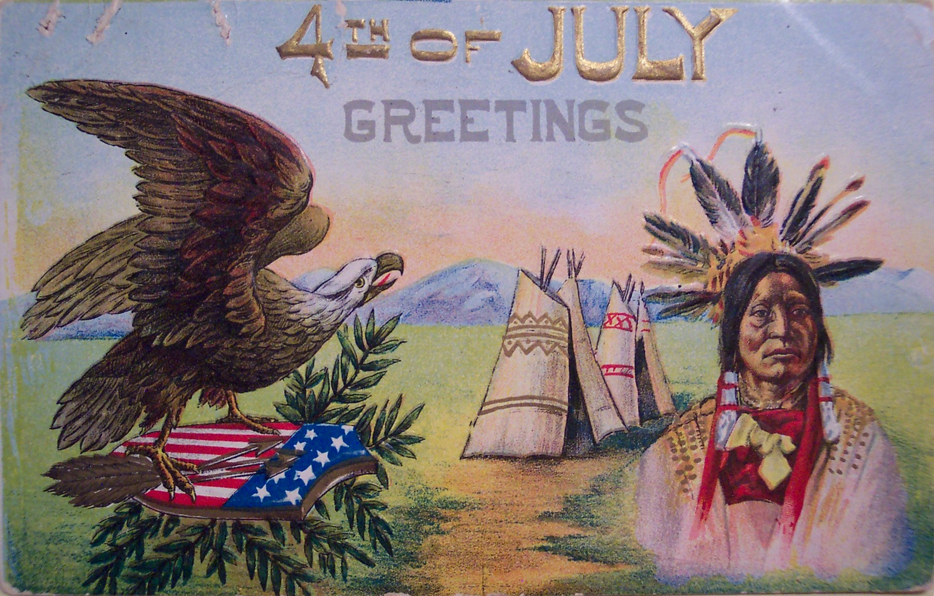 Vintage 4th Of July Free Image