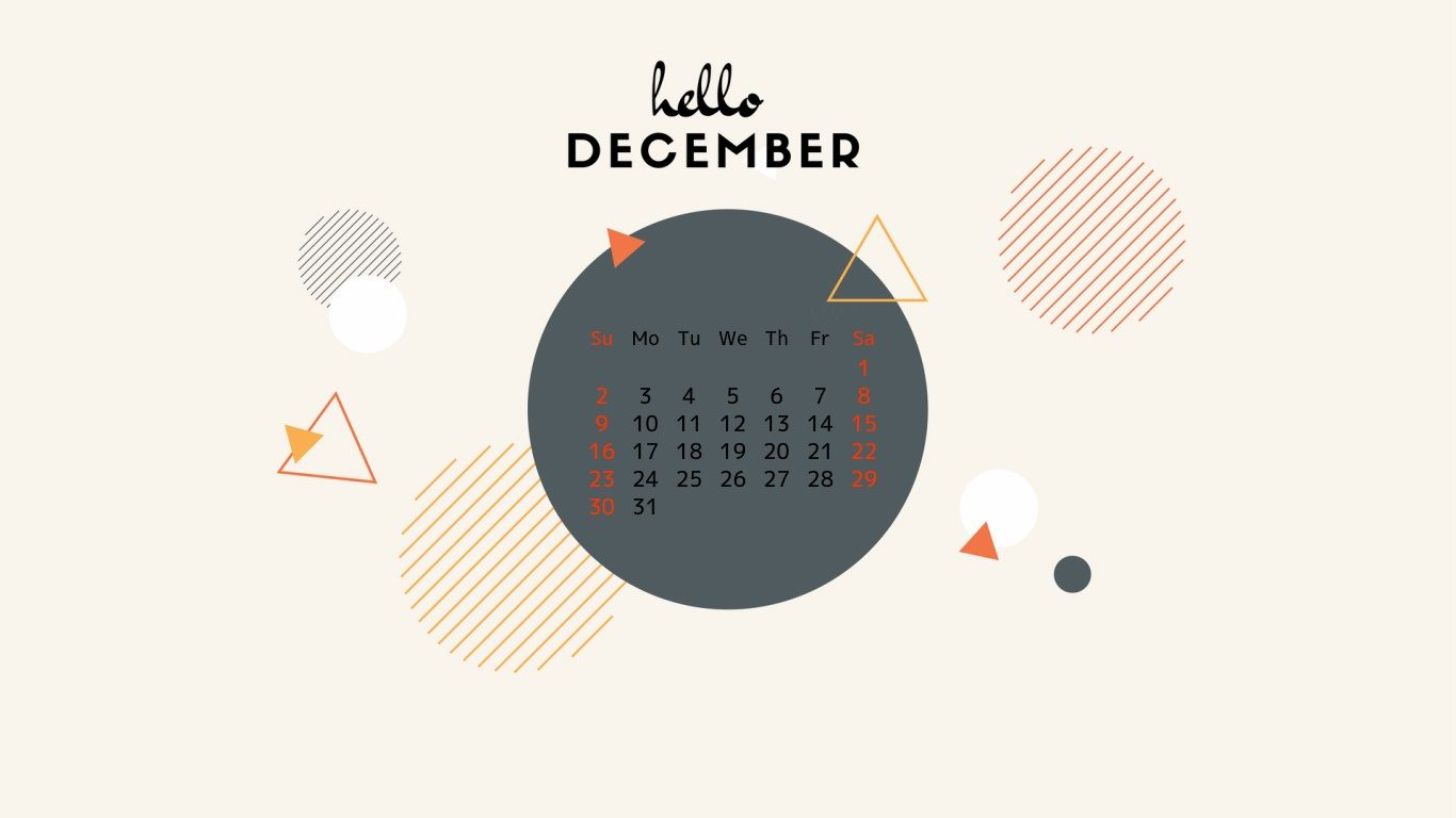 Amazing December 2018 Wallpaper Calendar