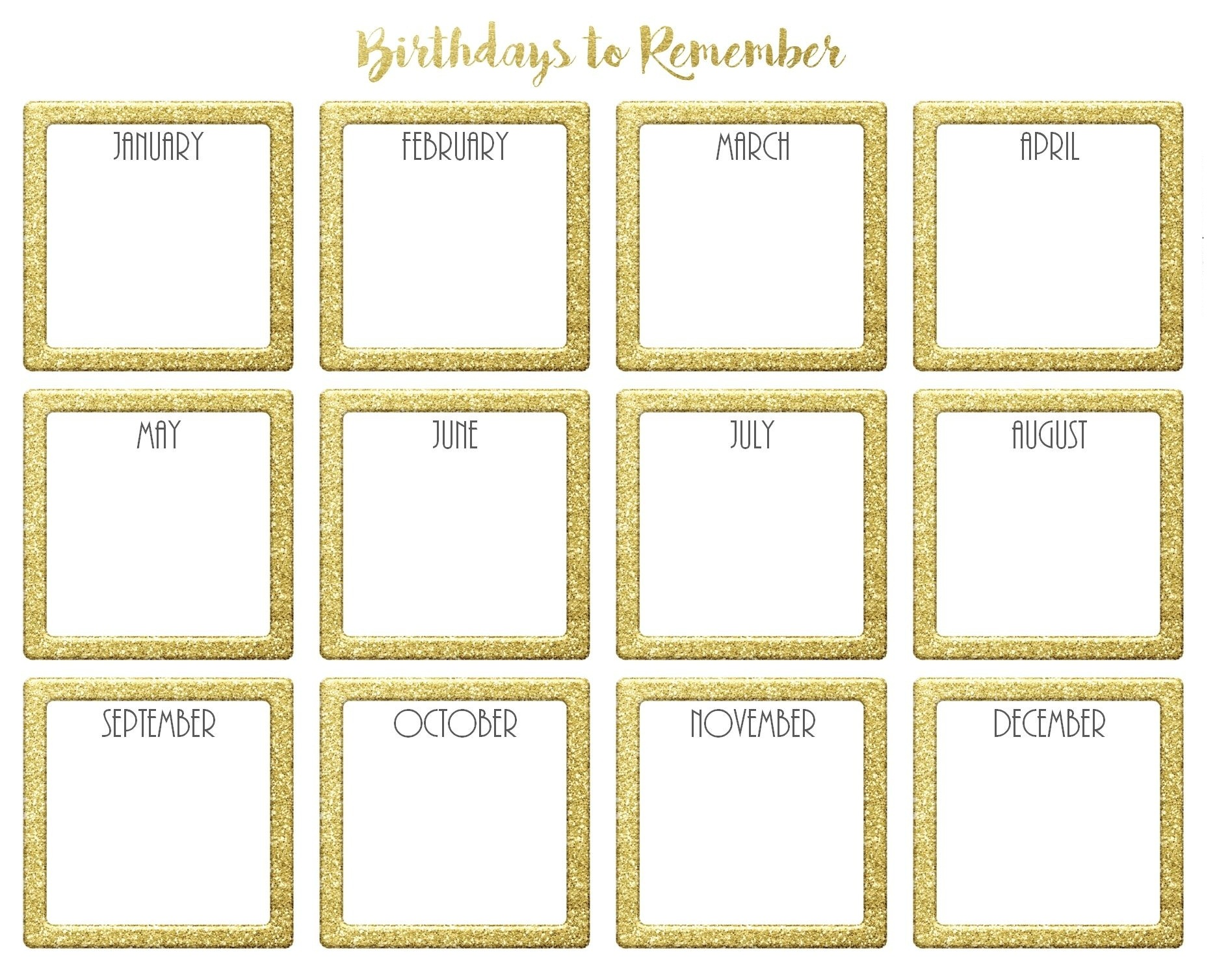 calendar template Unique free birthday calendar