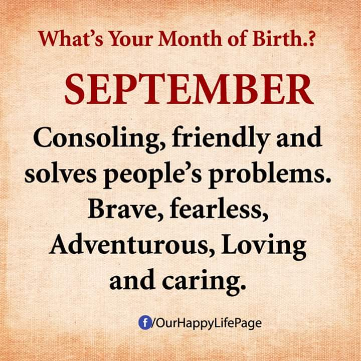 Born in Quotes September Month Pictures