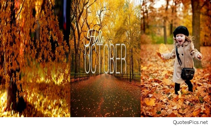 Cute Hello October Wallpaper
