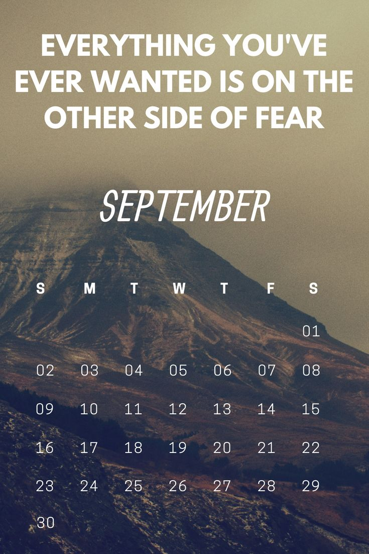 Free September 2018 Motivational Calendar