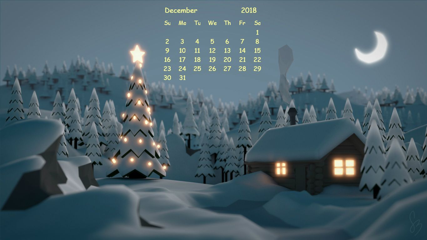 HD December 2018 Wallpaper