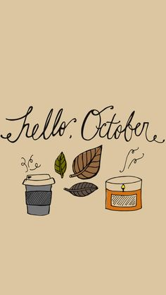 Hello October Wallpaper for iPhone