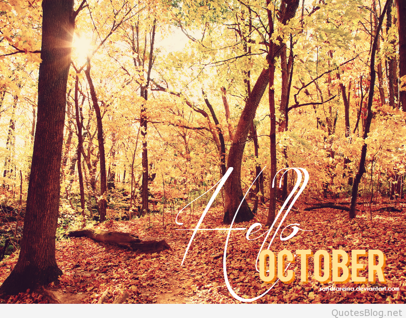 Hello October Wallpaper