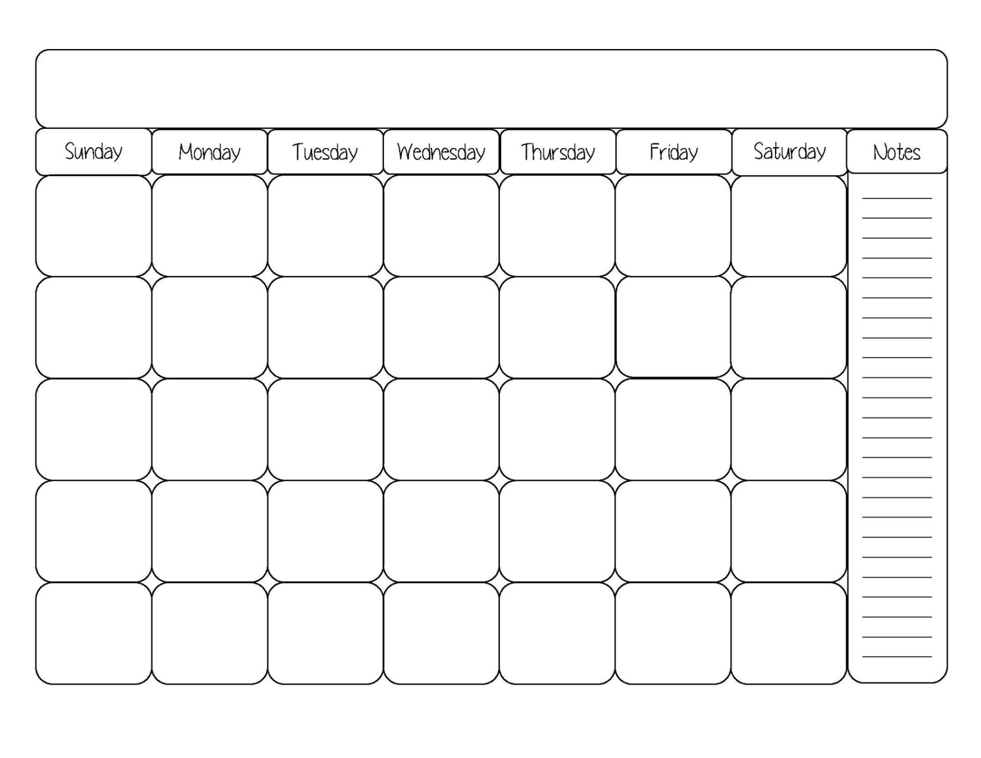 Monthly Calendar Template 2018 Google Sheet