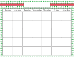 Monthly Calendar Template Page Download