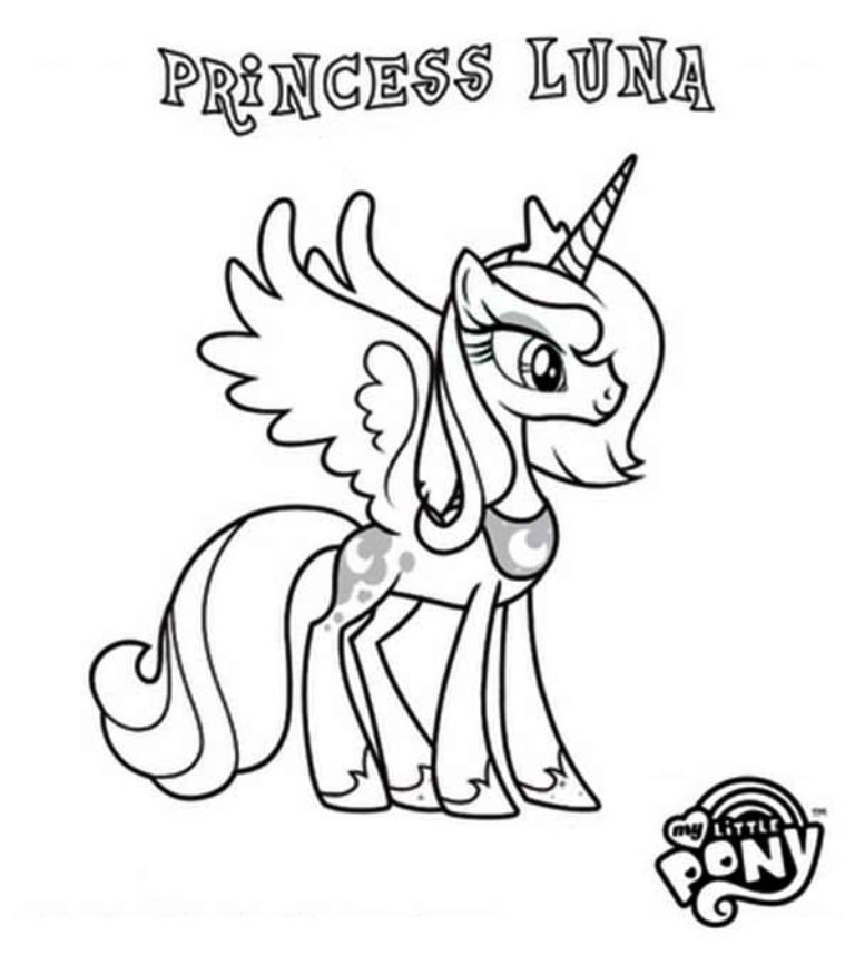 My Little Pony Coloring Pages Luna