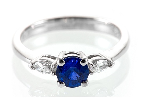 Royal Blue Sapphire Engagement Ring