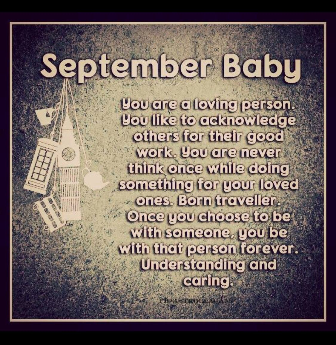 September Baby Quotes and Sayings