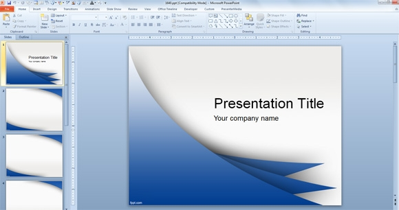 microsoft powerpoint 2007 template