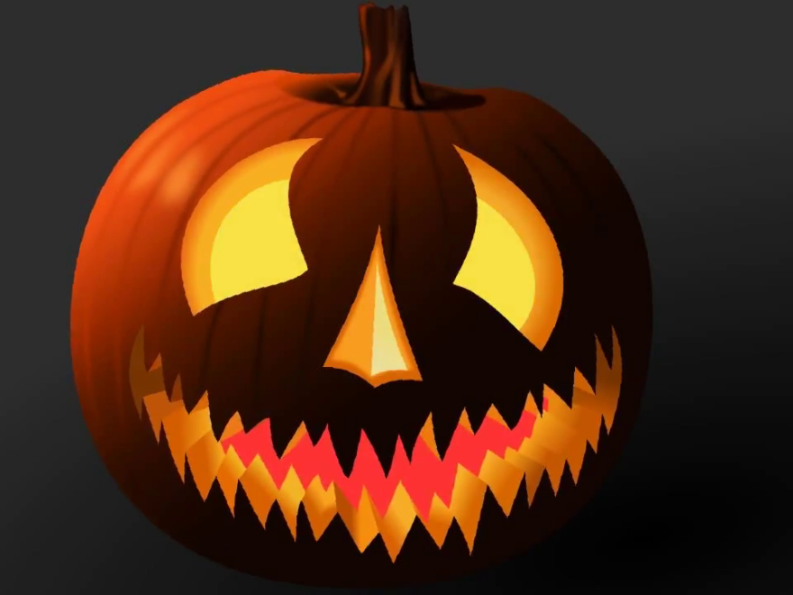 Halloween Scary Design Animation