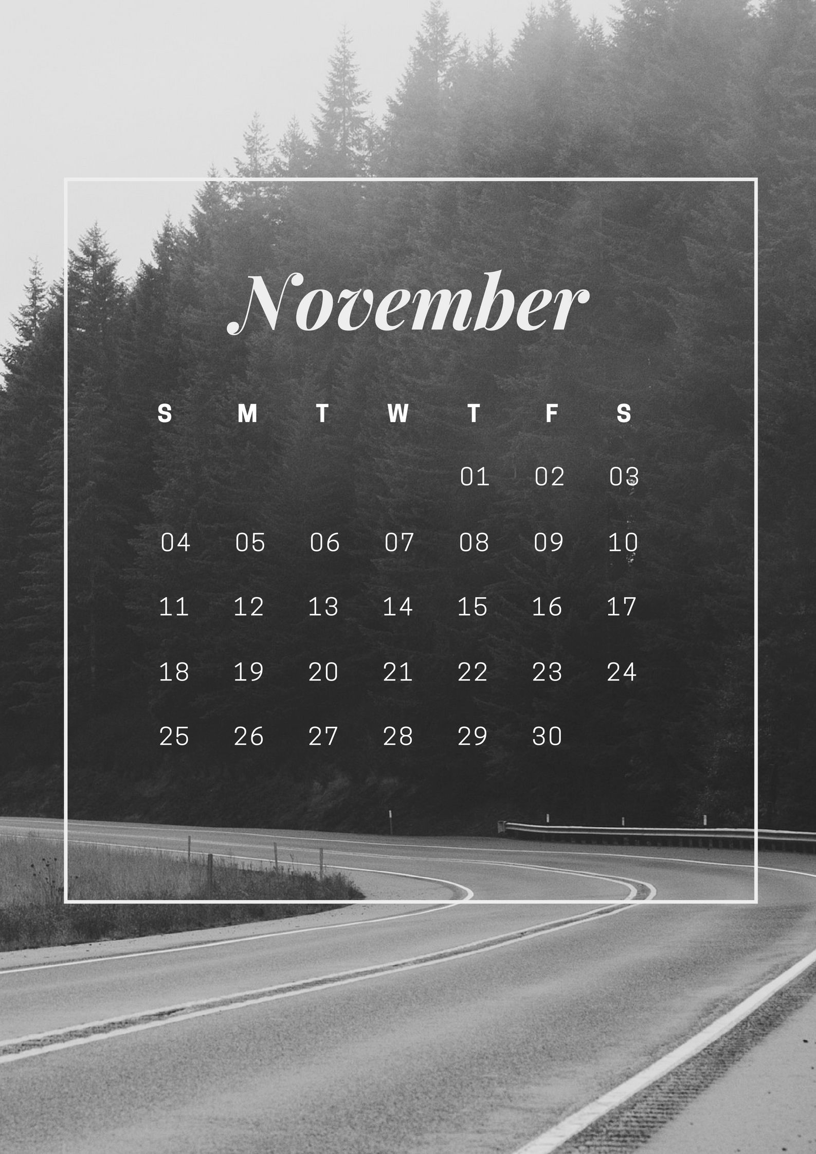 November 2018 HD iPhone Wallpaper