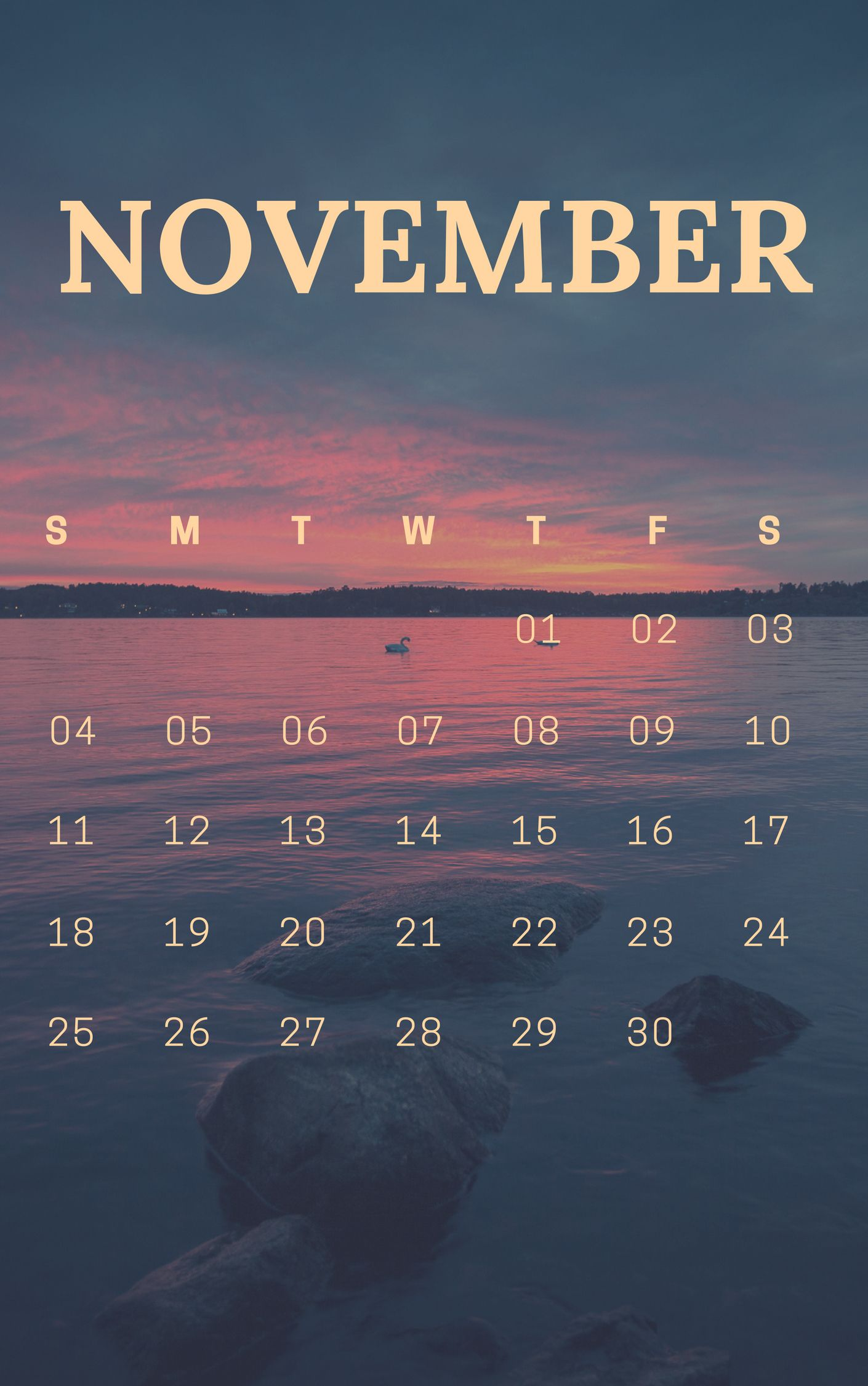 November 2018 Nature iPhone Wallpaper