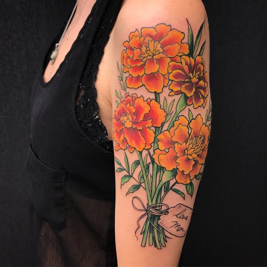 October Birth Flower Tattoos Pictures