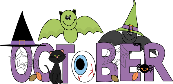 October Clipart for Kids