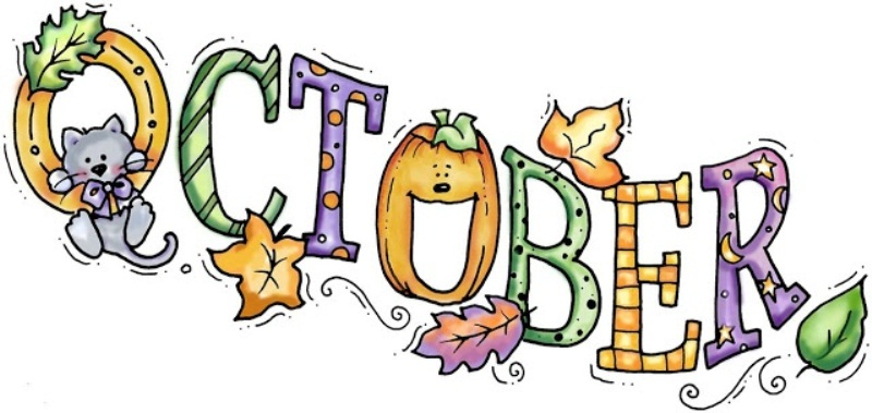 October Month Clipart Banner