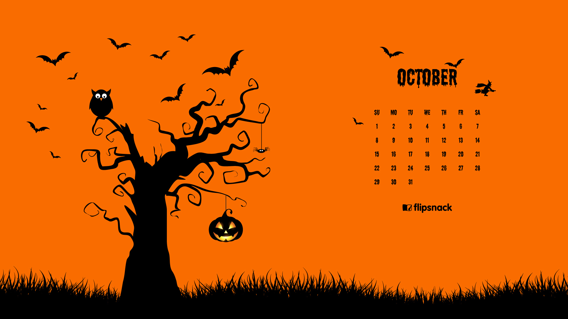 October Wallpaper for Calendar
