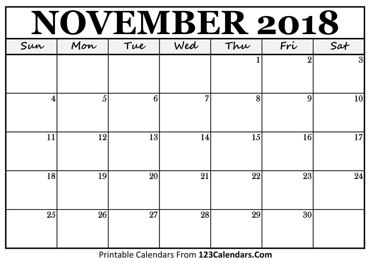 picture about Printable Calendar November known as On the internet 2018 November Calendar with Vacations Printable Template