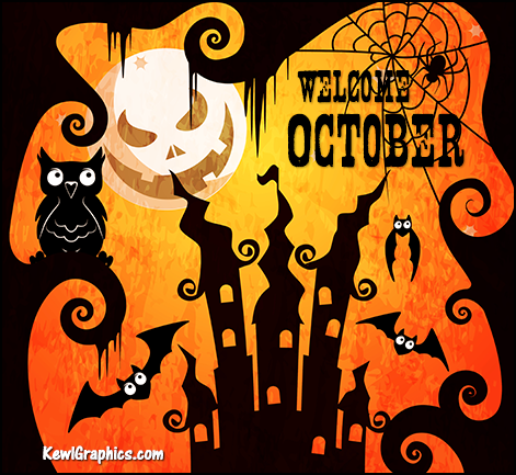 Scary Welcome October Halloween Images