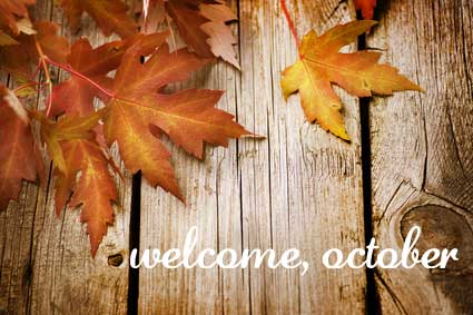 Welcome October Month Images