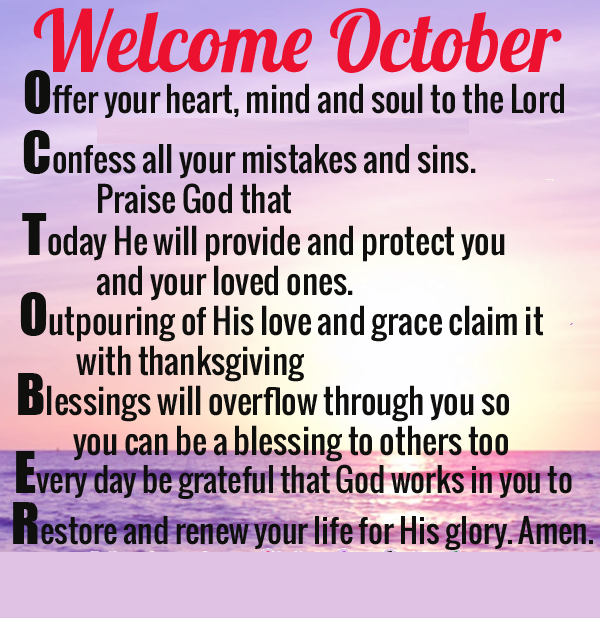 Welcome October Positive Quotes
