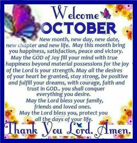 Welcome October Quotes Inspirational
