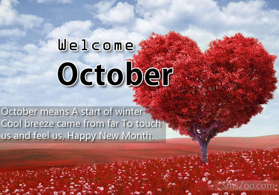Welcome October Quotes Pictures SMS