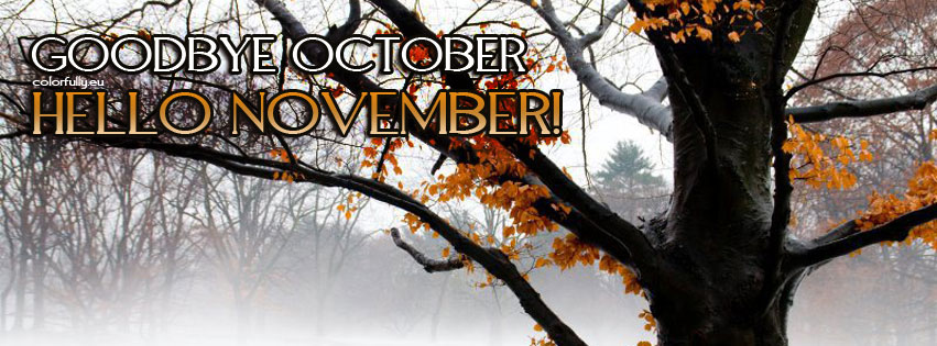 Goodbye October Hello November Facebook Cover