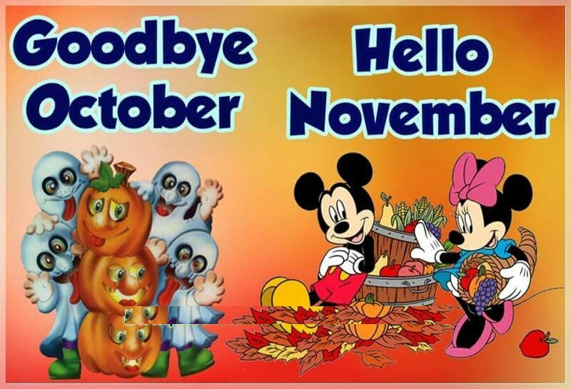 Goodbye October Hello November Funny