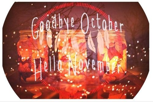 Goodbye October Hello November Images