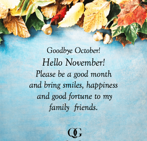 Goodbye October Hello November WhatsApp