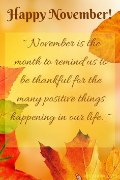 Happy November 1st Quotes