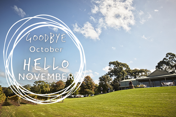 Hello November Goodbye October