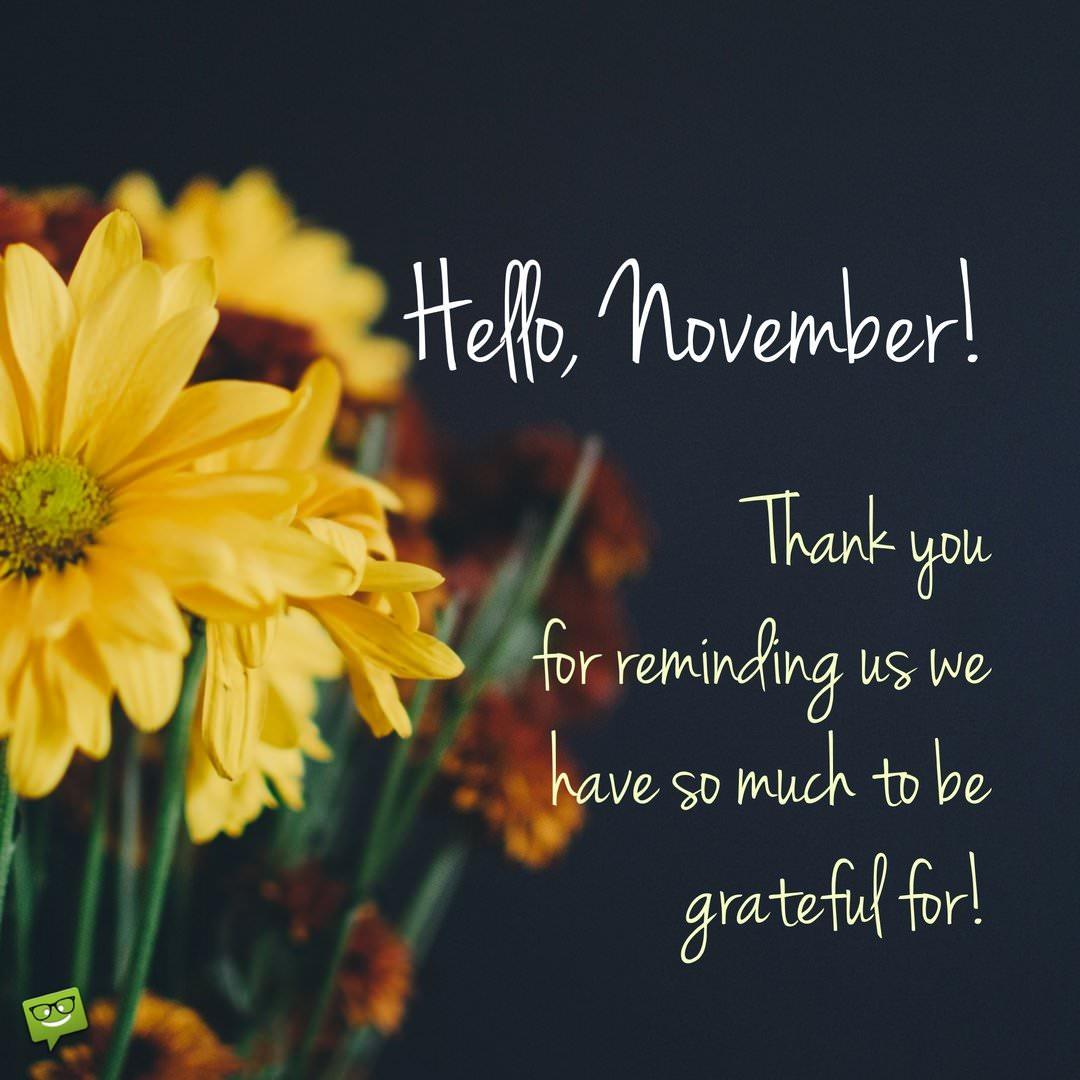 Hello November Inspirational Quotes