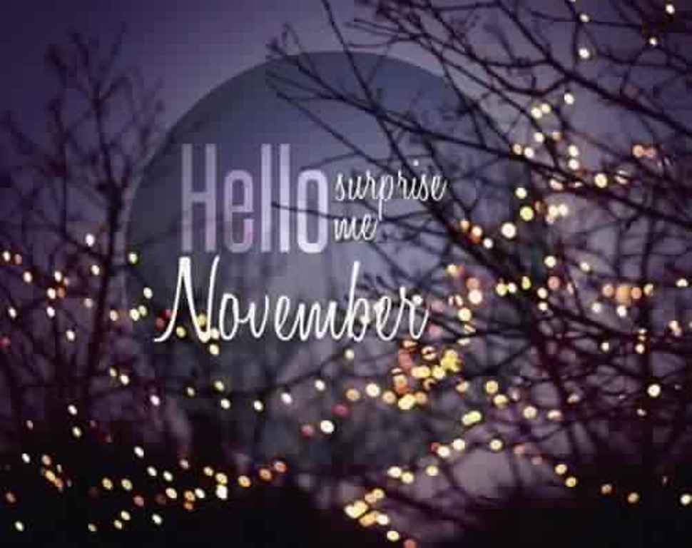 Hello November Month Images