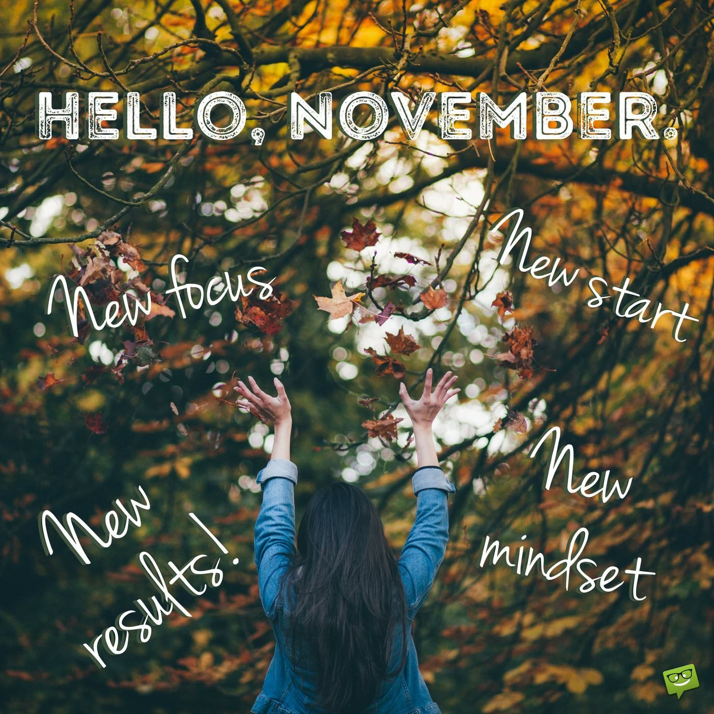 Hello November Motivational Quotes