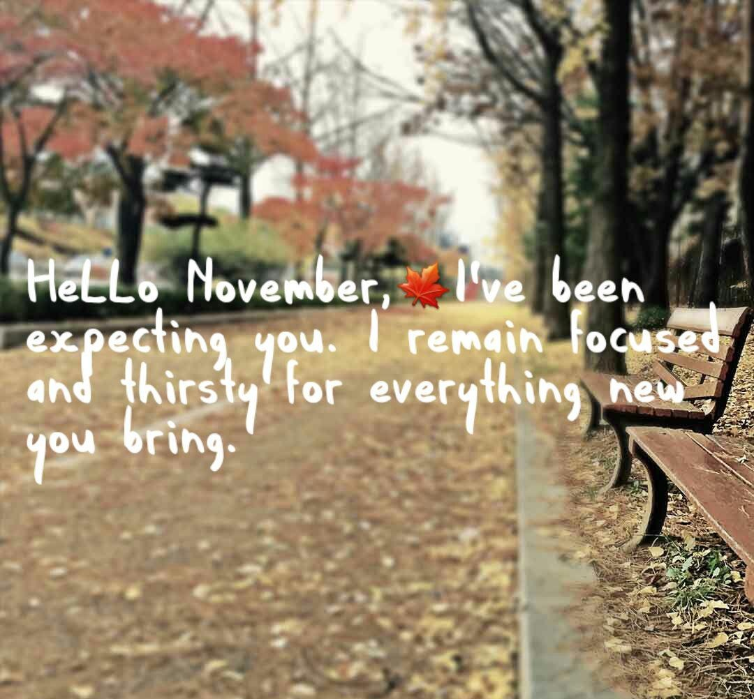 Hello November Quotes Wishes