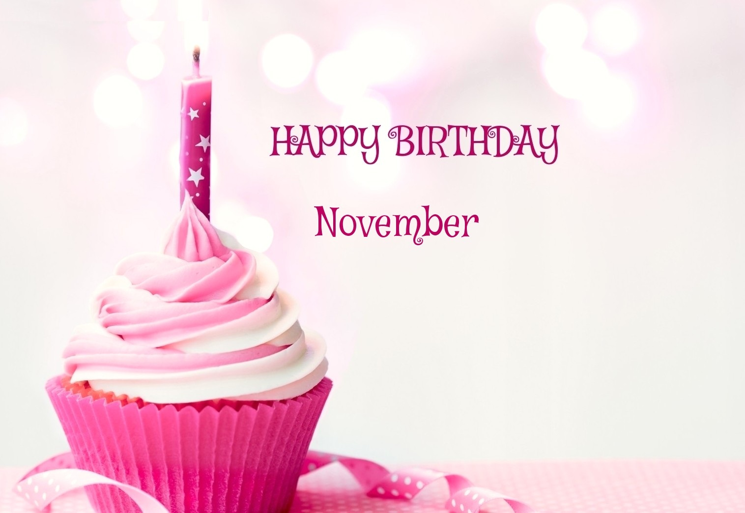 November Birthday Cake Images