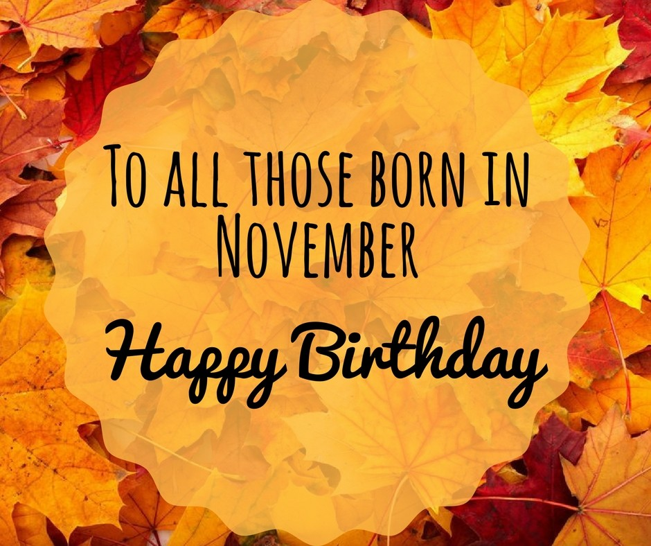 November Birthday Images Pictures