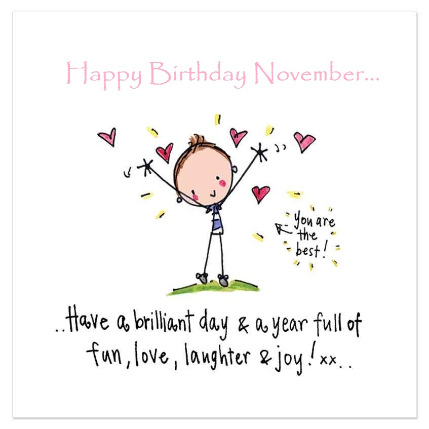 November Birthday Quotes Cute