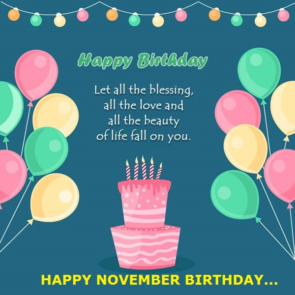 November Birthday Quotes and Sayings