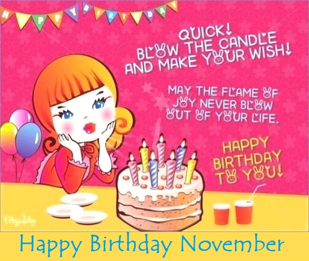 November Month Birthday Quotes