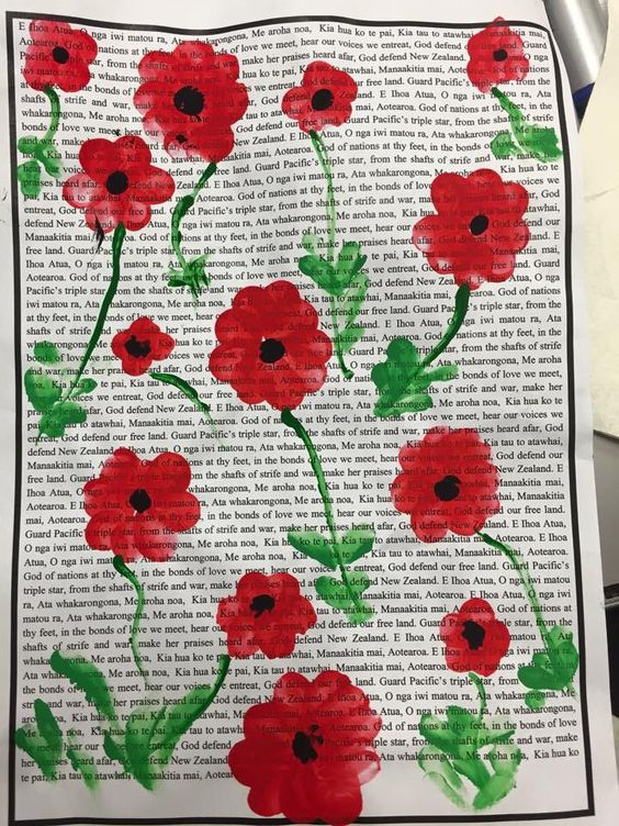 Remembrance Day Crafts School Activity Watercolor