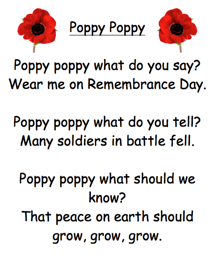 Remembrance Day Inspirational Poem For Cards