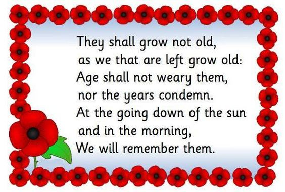 Remembrance Day Message 2018 Photo