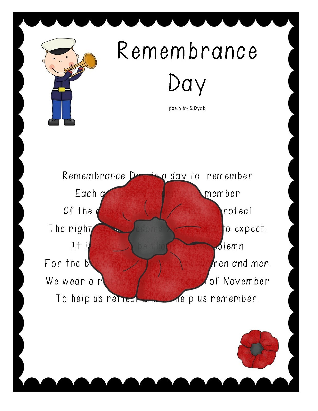Remembrance Day Poem Idea For Thoughts