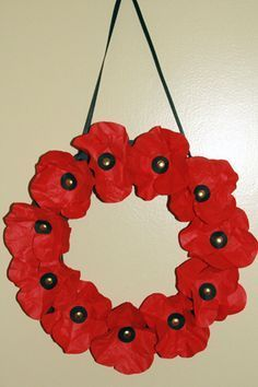 Remembrance Day Top Poppy Hanger Crafts