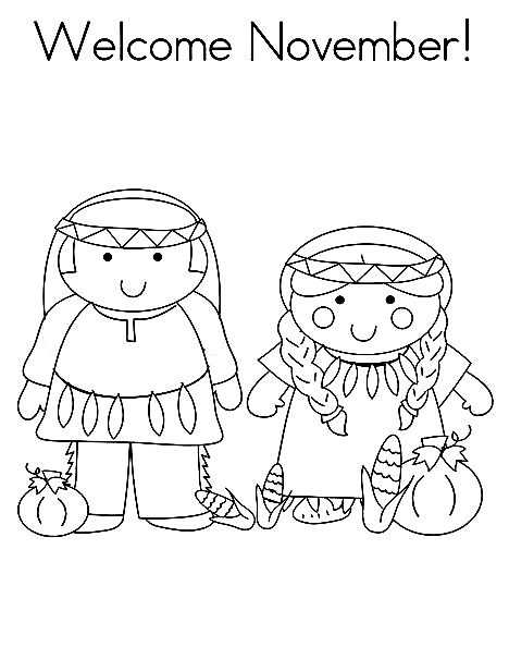 Welcome November Coloring Images