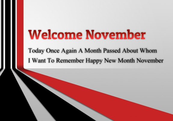 Welcome November Images, Quotes, Pictures